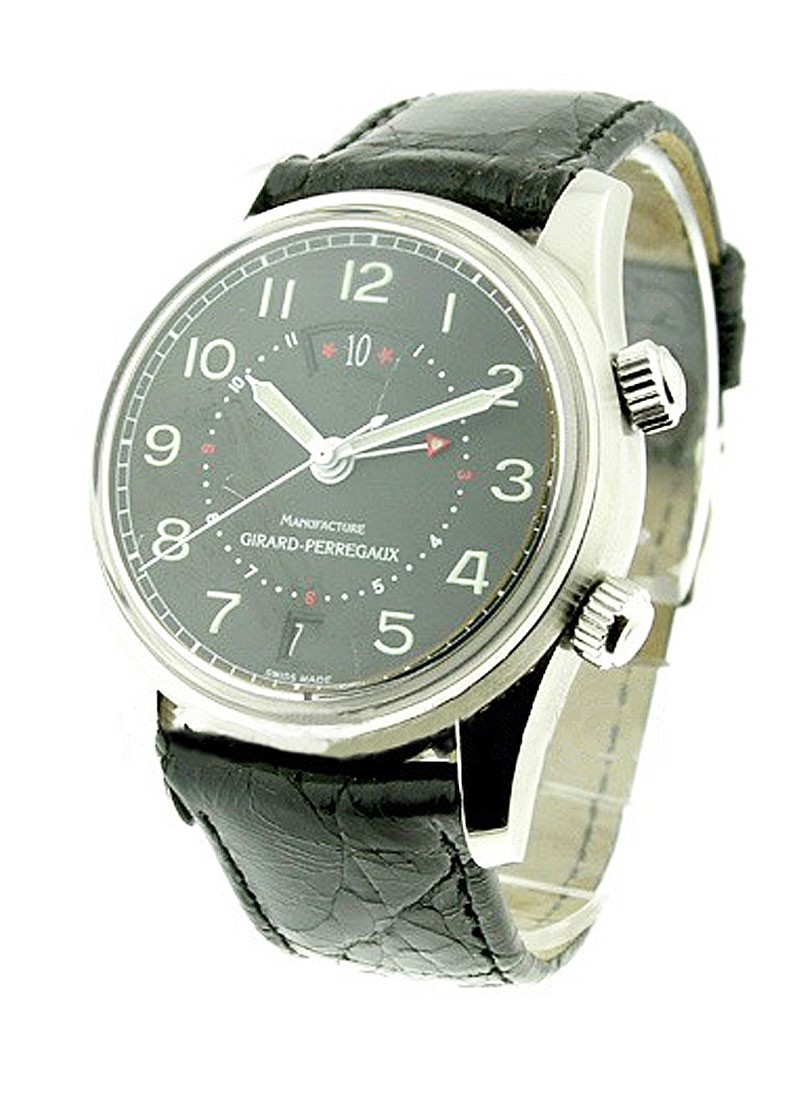 Girard Perregaux Traveler I Alarm and GMT Watch Automatic in Steel