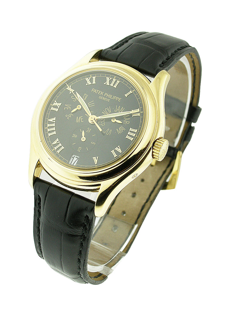 Patek Philippe 5035J Annual Calendar Rare in Yellow Gold