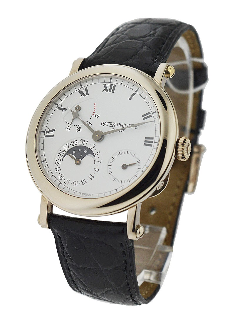 Patek Philippe Complications 5054 Power Reserve Moonphase in White Gold