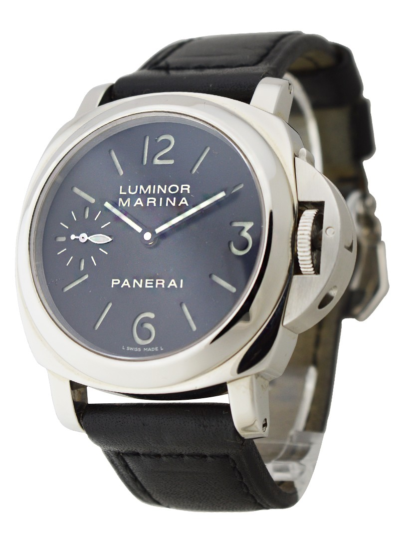 quality design 06a40 0a1b2 Luminor Marina in Steel PAM 111 Sandwich Dial