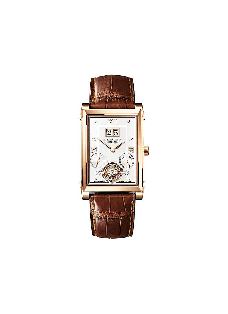 A. Lange & Sohne Cabaret Tourbillon Mens Mechanical in Rose Gold