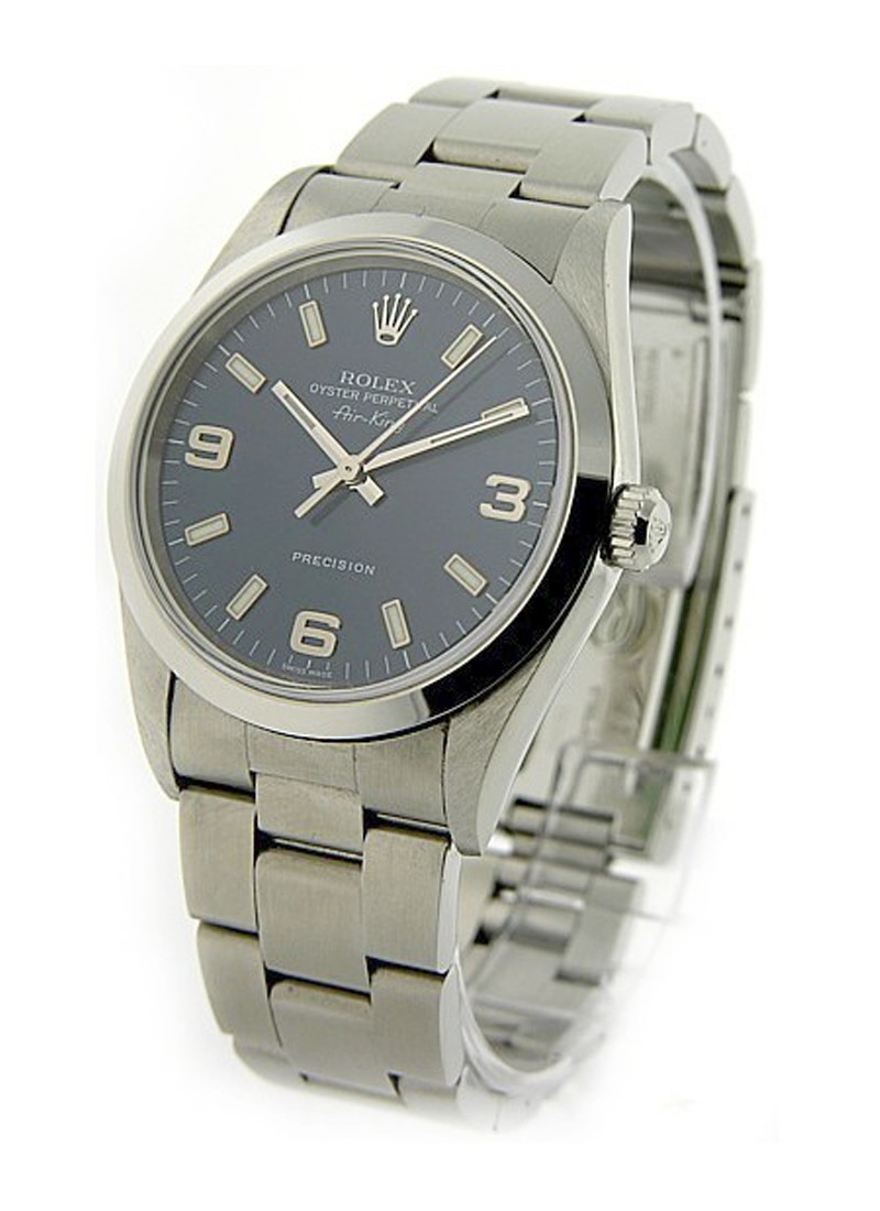 Pre-Owned Rolex Air King 14000 in Steel with Smooth Bezel