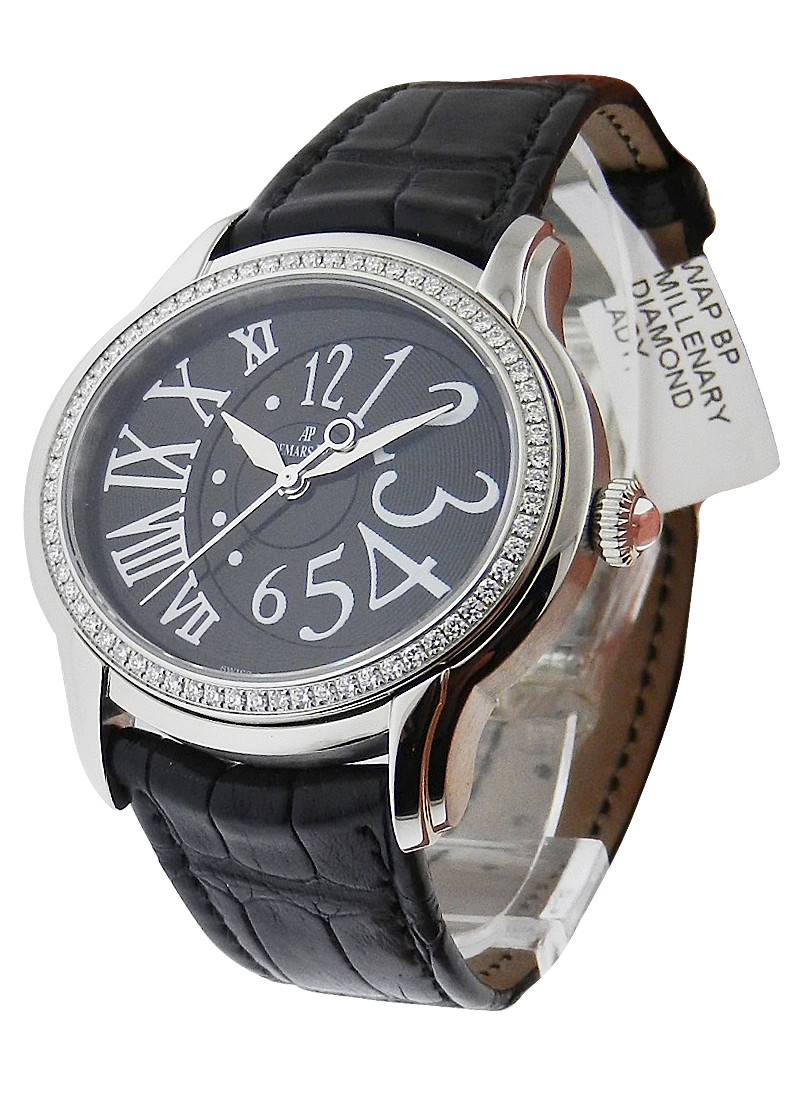 Audemars Piguet Millenary Gem-set in Steel with Diamond Bezel