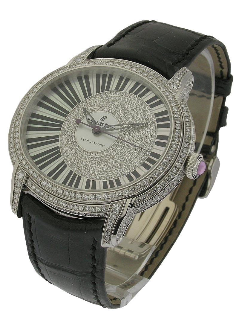 Audemars Piguet Millenary Pianoforte in White Gold with Diamond Bezel