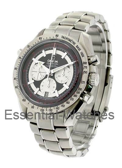 Omega Speedmaster Broad Arrow Rattrapante GMT in Steel
