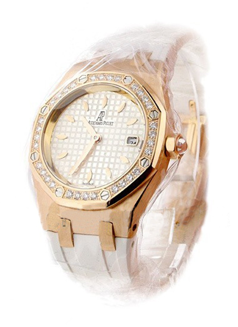 Audemars Piguet Lady's Royal Oak Sport in Rose Gold with Diamond Bezel