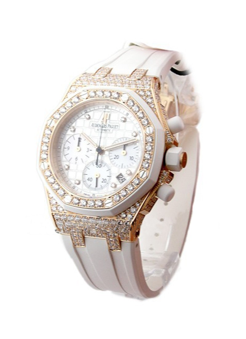 Audemars Piguet Royal Oak Lady's Offshore in Rose Gold with Diamond Bezel