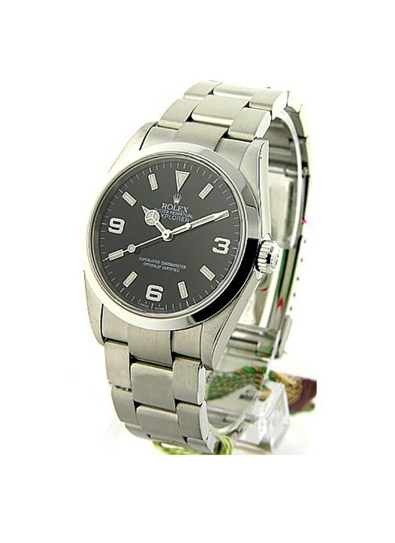 Pre-Owned Rolex Explorer I 36mm in Steel with Smooth Bezel