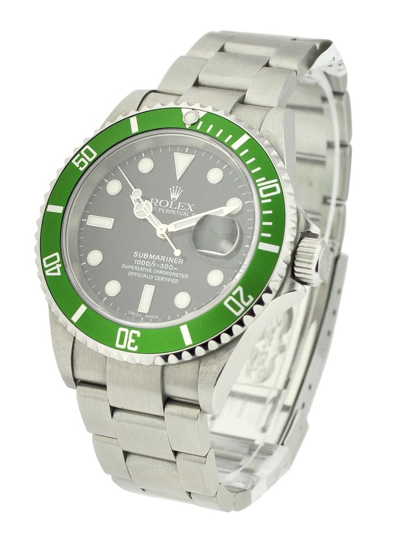 Rolex Used Green Submariner with Date