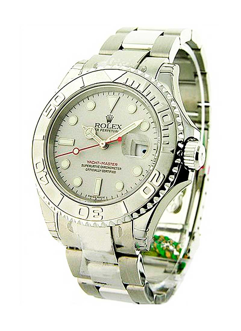Rolex Unworn Yachtmaster 40mm in Steel with Platinum Bezel