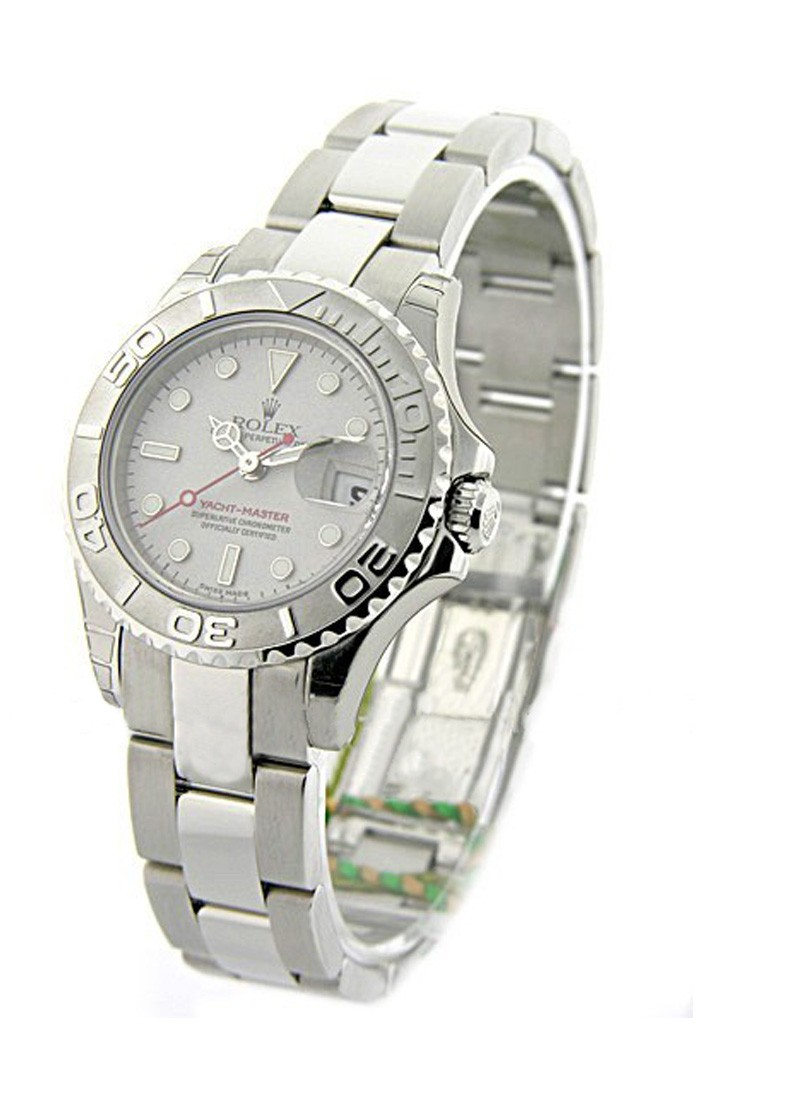 Rolex Unworn Yachtmaster in Steel with Platinum Bezel