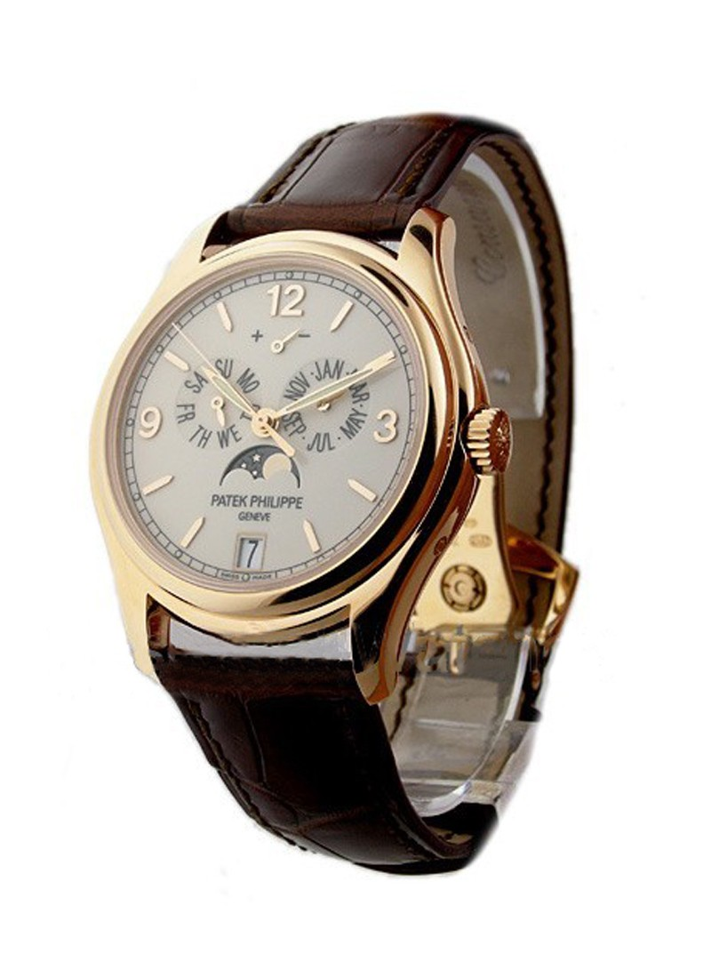 Patek Philippe Annual Calendar 5146R with Moon in Rose Gold