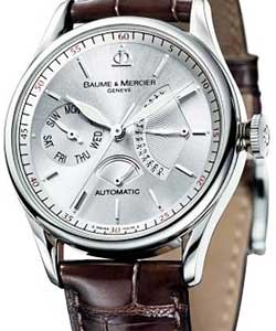 50239e5bef7 Classima Executives Power Reserve in Steel on Brown Leather Strap with  Silver Dial
