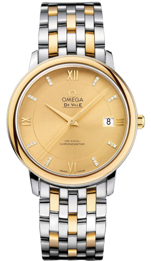 Omega De Ville Prestige Co-Axial in Steel with Yellow Gold