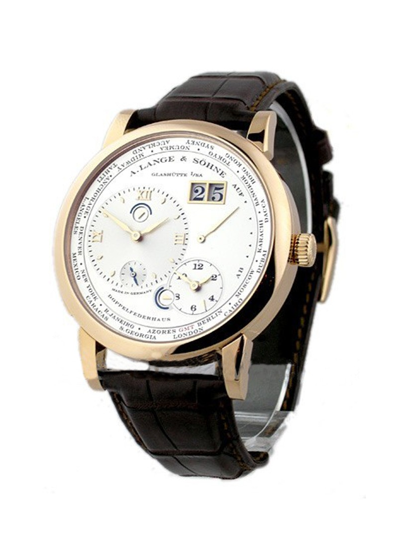A. Lange & Sohne Lange 1 Timezone Mens Mechanical in Rose Gold