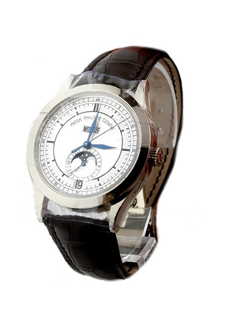 Patek Philippe 5396G Annual Calendar with Moon Phase in White Gold