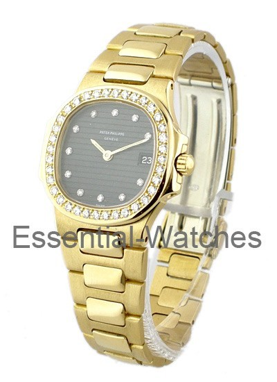 Patek Philippe Lady's Nautilus in Yellow Gold with Diamond Bezel