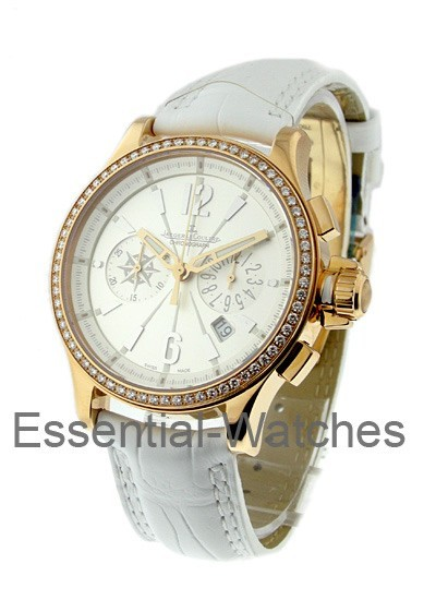 Jaeger - LeCoultre Lady's Master Compressor Chronograph in Rose Gold  with Diamond Bezel