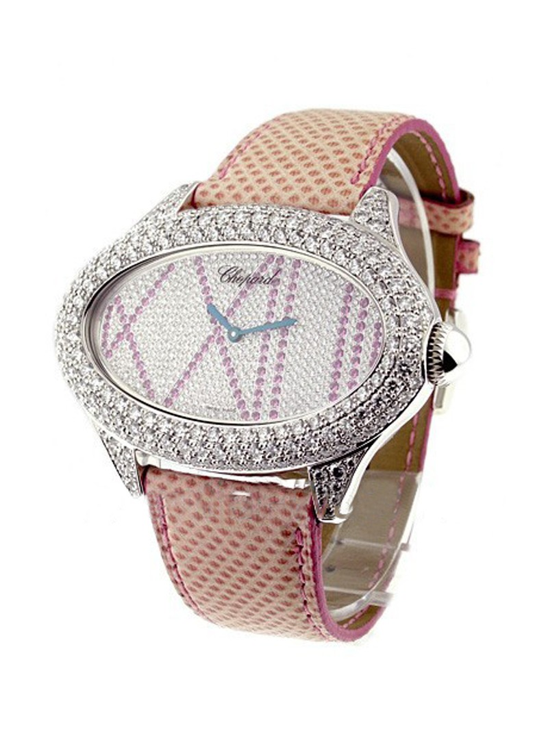 Chopard Montres Dame Cat Eye in White Gold with Diamond Bezel