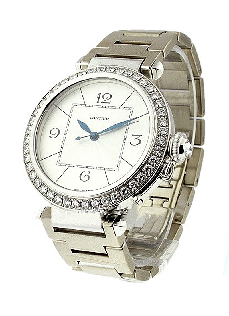 Cartier  Pasha 42mm in White Gold with Diamond Bezel