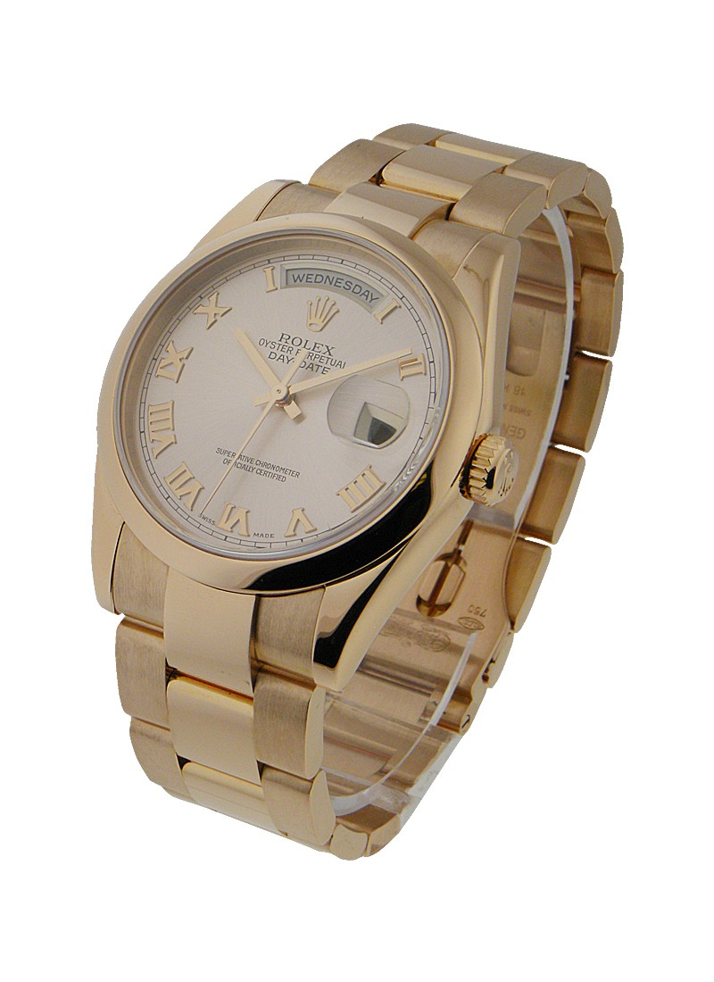 Rolex Used Presidential - Rose Gold - Smooth Bezel - 36mm