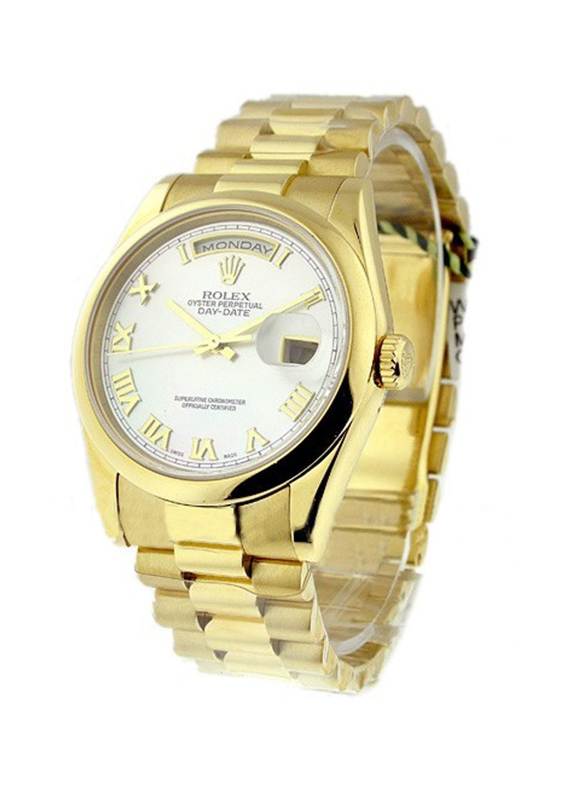 Pre-Owned Rolex President - 36mm - Yellow Gold - Domed Bezel