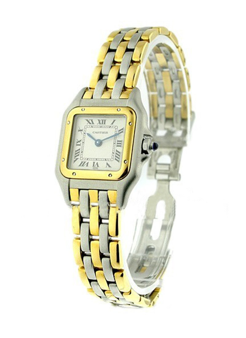 Cartier Panther Small Size 22mm in Steel with Yellow Gold Bezel