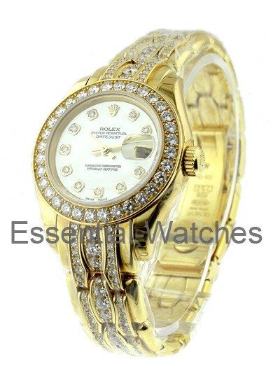 Rolex Unworn Masterpiece Lady's in Yellow Gold with 32 Diamond Bezel - Limited Edition