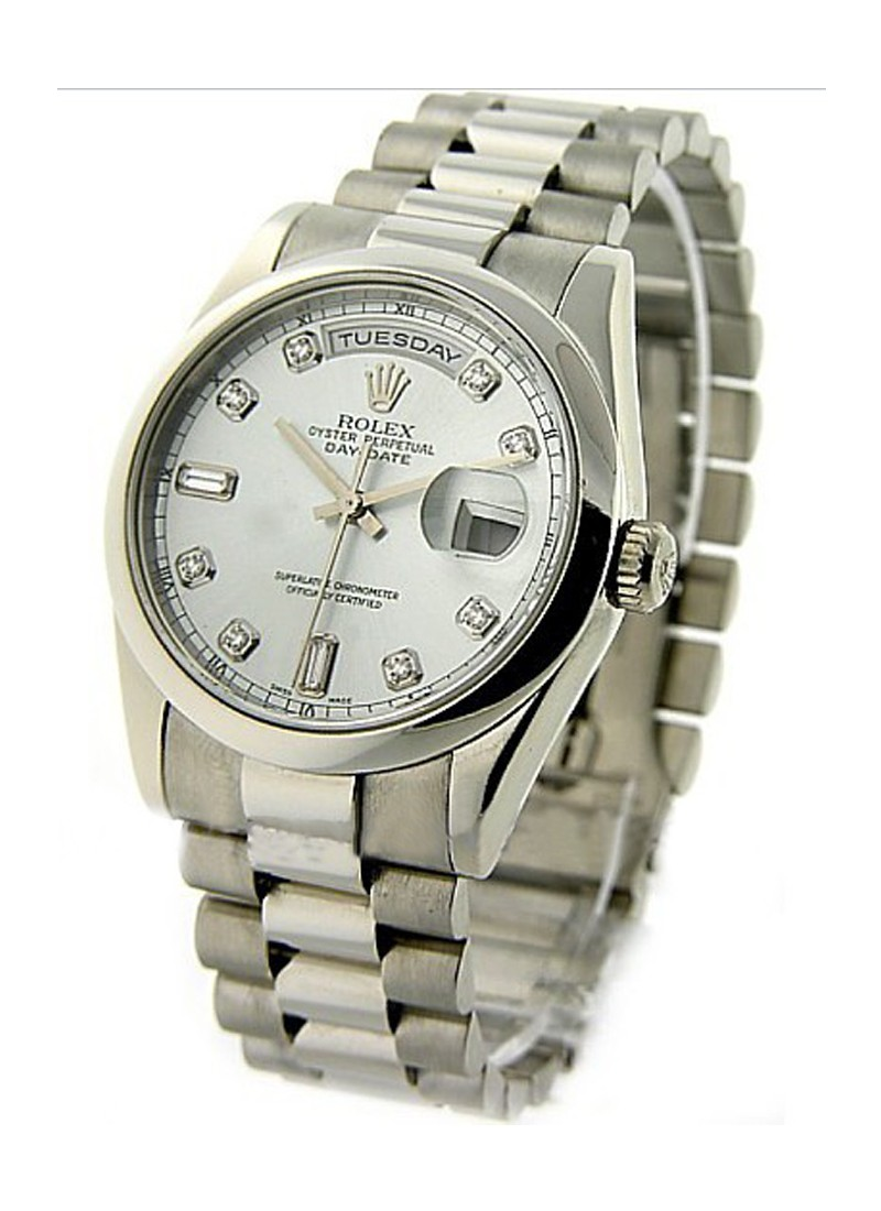Rolex Unworn Men's Platinum President with Domed Bezel
