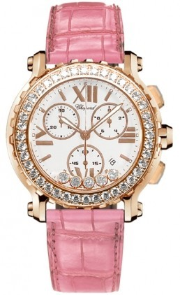 Chopard Happy Sport Chronograph in Rose Gold with Diamond Bezel