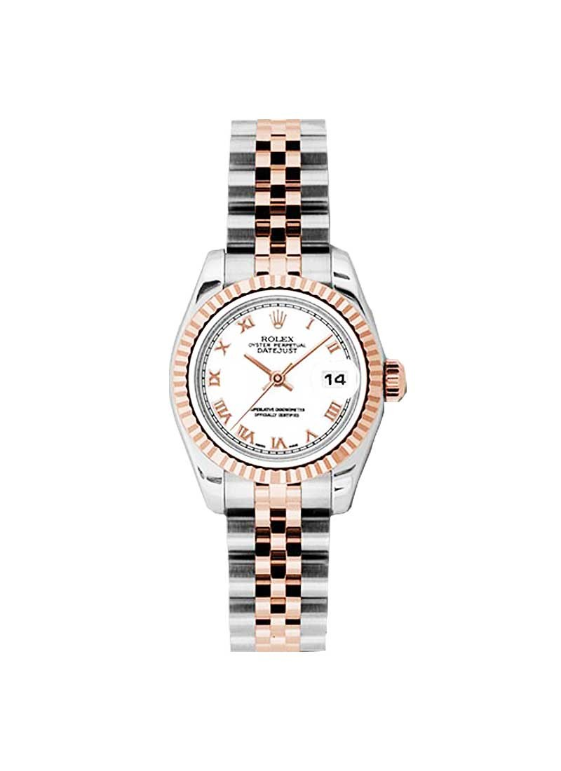 Rolex Unworn Ladies Datejust 26mm in Steel with Rose Gold Fluted Bezel