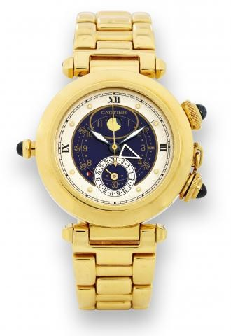 Cartier Pasha Moon Phase w/Alarm Function
