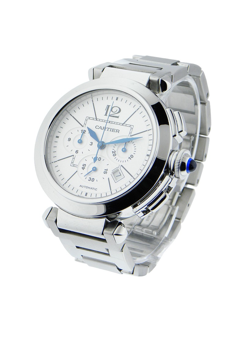 Cartier Pasha 42mm Chronograph in Steel