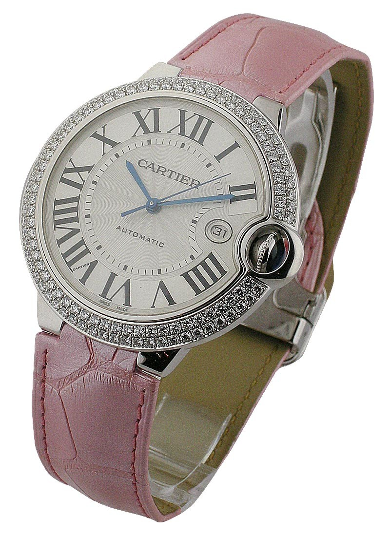 Cartier Ballon Bleu Large Size with Diamond Bezel