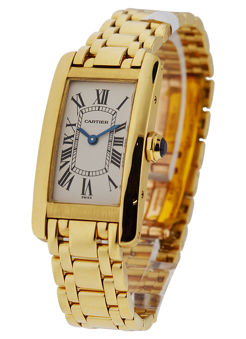Cartier Tank Americaine - Small Size in Yellow Gold