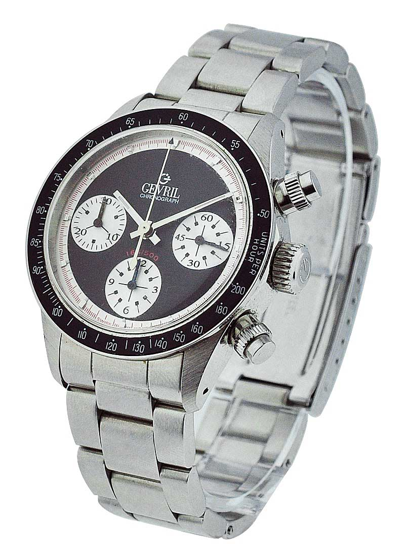 Gevril Tribeca Tribute to Paul Newman Chronograph in Steel