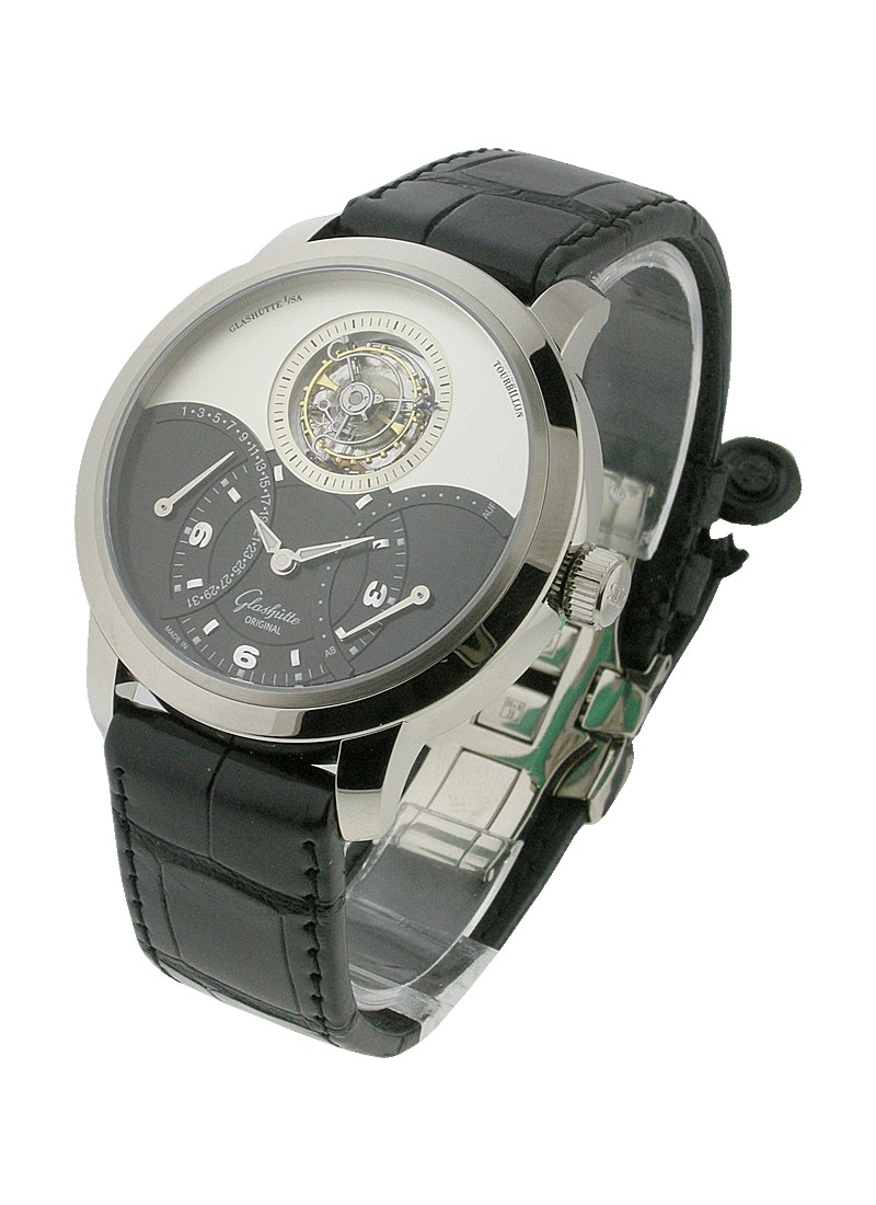 Glashutte Panomatic Tourbillon XL in White Gold