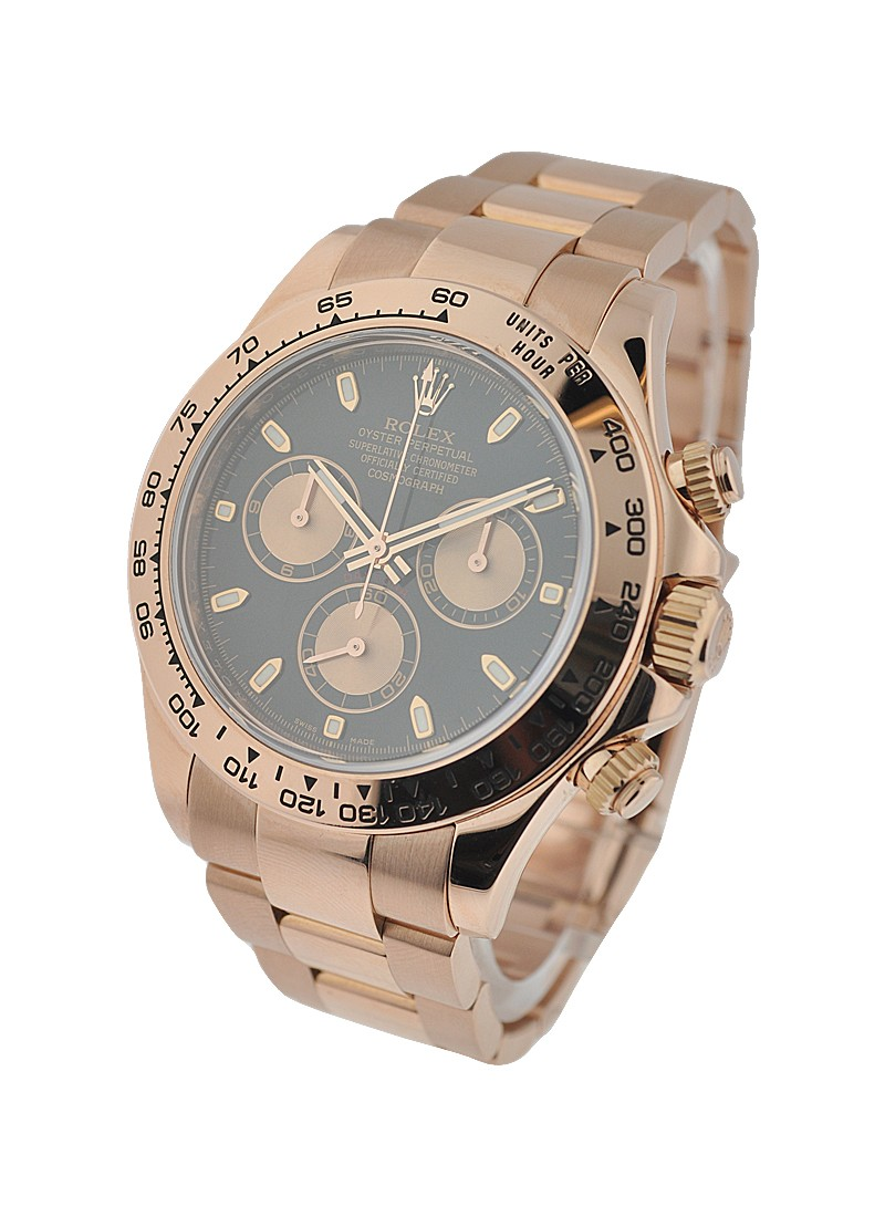 Rolex Used Everose Rose Gold Daytona on Bracelet 116505