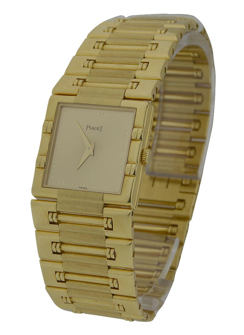 Piaget Large Size Square Dancer in Yellow Gold