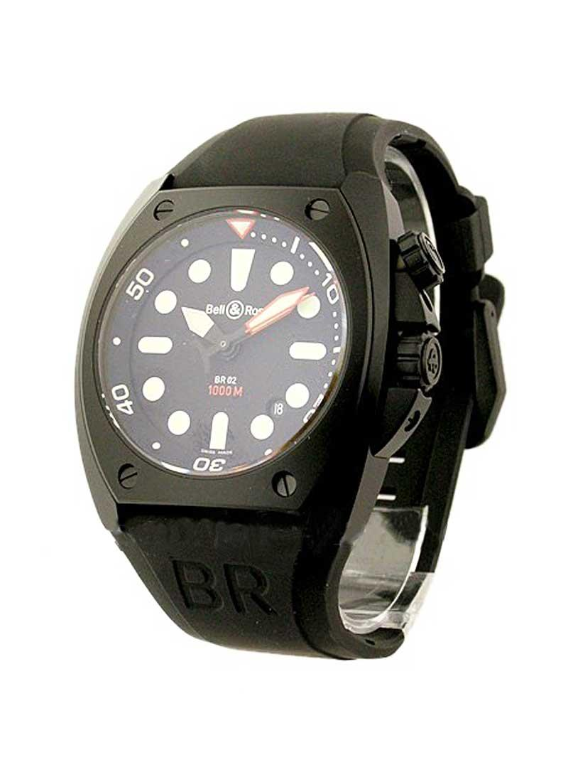 Bell & Ross BR 02 92 Marine Pro Carbon in Black Carbon Coated Steel