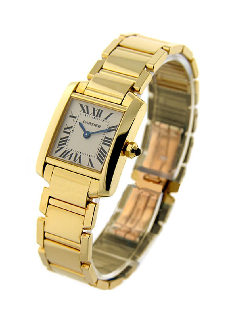 Cartier Small Size Tank Francaise in Yellow Gold