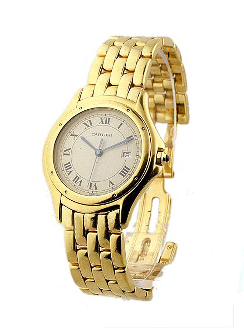 Cartier Cougar 33mm in Yellow Gold