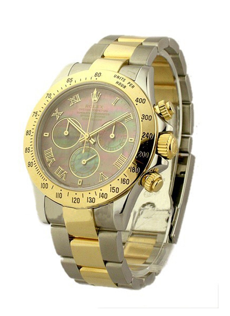 Rolex Used 2 Tone Daytona with Black MOP Dial 16523