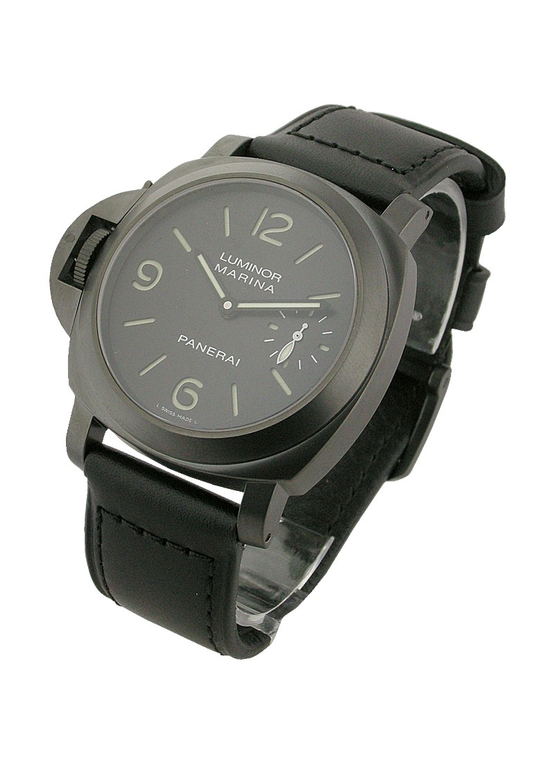 Panerai PAM 26 K    Luminor Marina Left Handed in PVD Black Steel