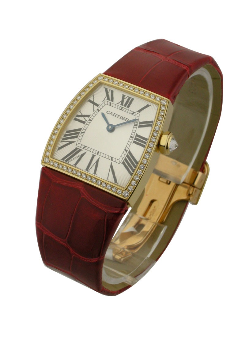Cartier La Dona de 28mm in Yellow Gold with Diamond Bezel