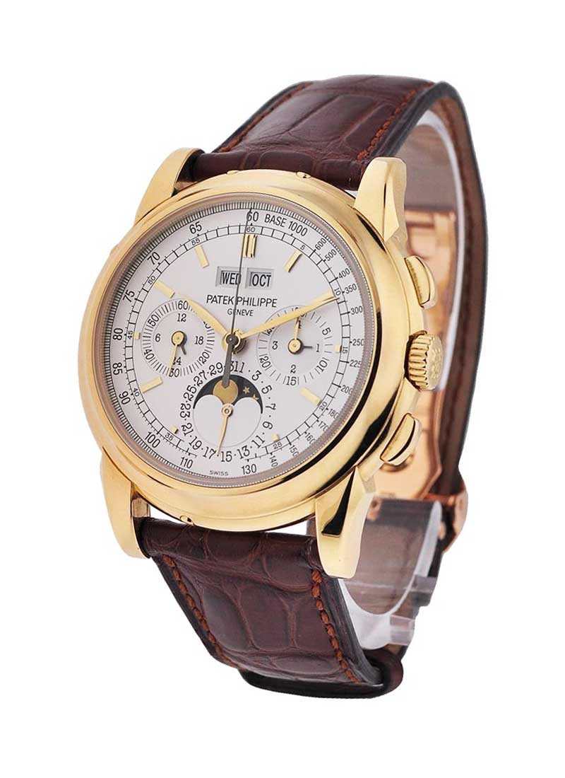Patek Philippe Perpetual Calendar Chronograph Moonphase in Yellow Gold