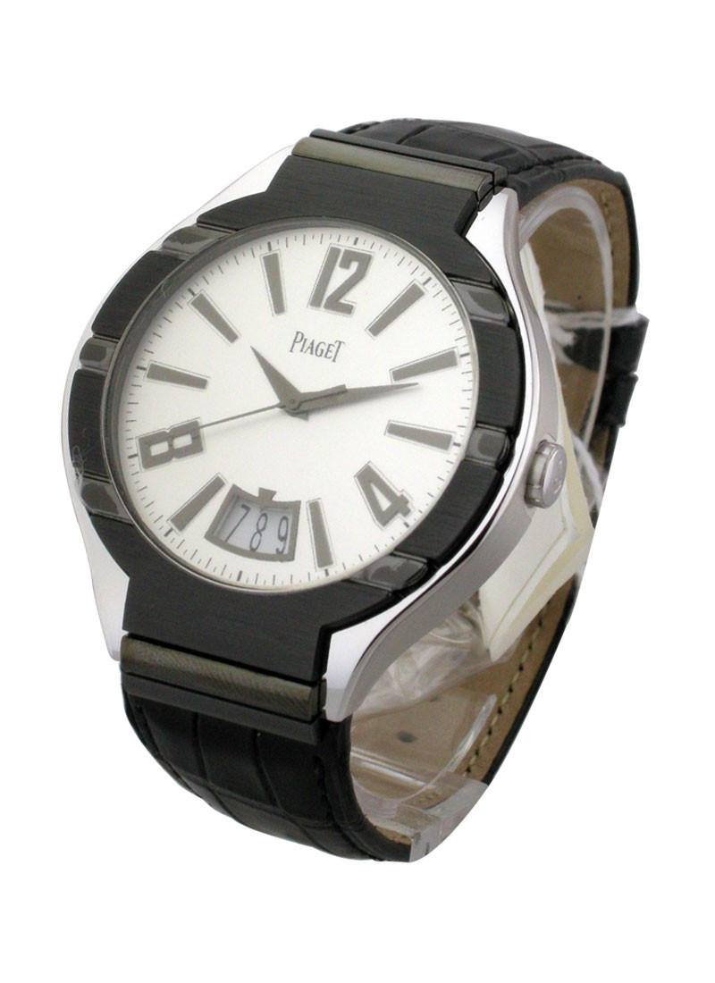 Piaget Polo 43mm in White Gold with Black Bezel