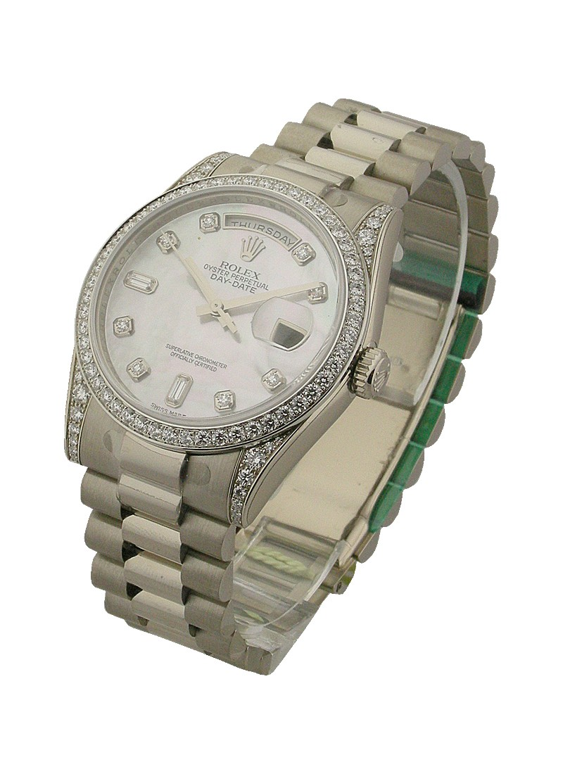 Rolex Used Men's President Day   Date in White Gold   Crown Collection