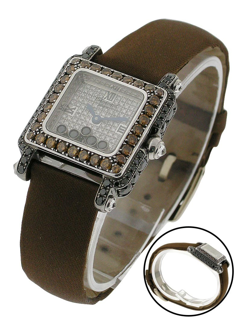 Chopard Happy Sport with Black and Brown Diamonds