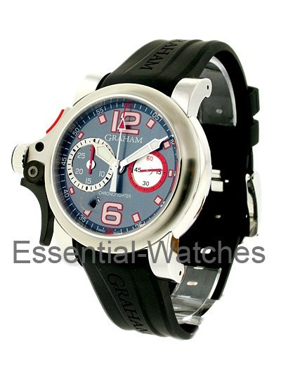 Graham Chronofighter RAC Trigger - Graphite Rush in Stainless Steel